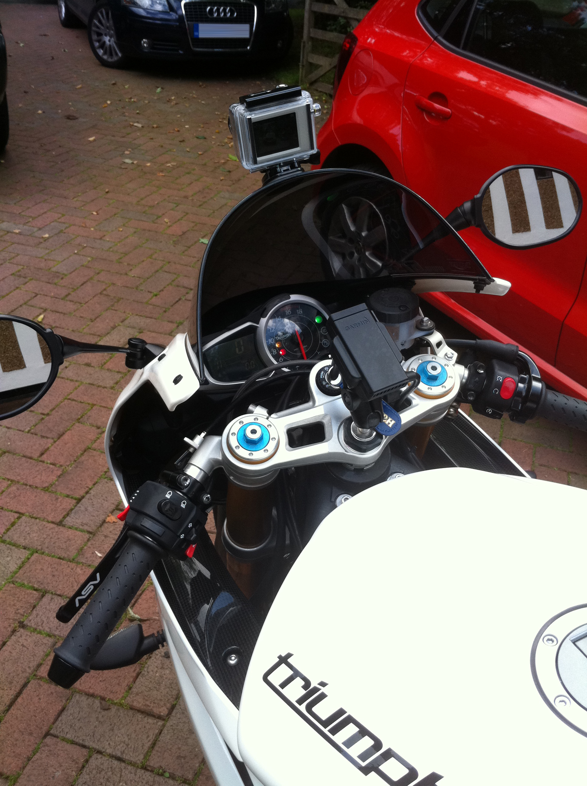 Gopro Roll Bar Mount >> GoPro - Where is yours mounted? | 675.cc • Triumph 675 Forum